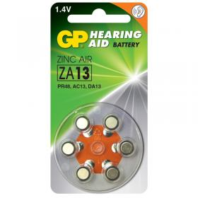 GP Zinc Air ZA 13-D6 Hearing Aid akku
