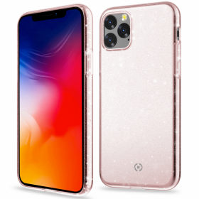 Celly Pinkki Celly Sparkling iPhone 11 kuori