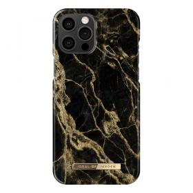 iDeal of Sweden IDeal Of Sweden Fashion iPhone 12 Pro Max Kuori- Golden Smoke Marble