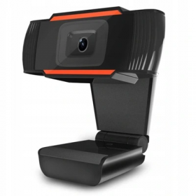Web Camera mikrofonilla 1080P HD, USB - Musta