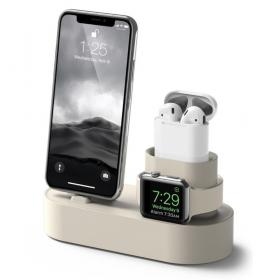 Taltech 3-in-1 Charging Stand iPhone, AirPods & Apple Watch - Beige