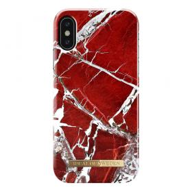 iDeal of Sweden IDeal Fashion Case till Iphone X-XS- Scarlet Red Marble kuori