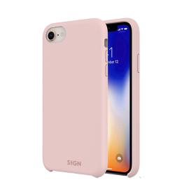 SiGN Pinkki SiGN Liquid Silicone iPhone 7, 8 & SE 2 kuori