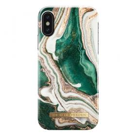 iDeal of Sweden IDeal Fashion Iphone X-XS- Golden Jade Marble kuori