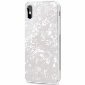 Celly Valkoinen Celly Pearl iPhone X-XS kuori