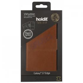 OEM Holdit Selected Brown Leather for S7 Edge