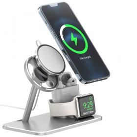 Taltech AJZJ07A 3-in-1 Latausasemat, iPhone 13 & 12 Series, Apple Watch, AirPods