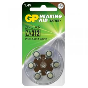GP Zinc Air ZA 312 Hearing Aid akku