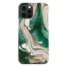 iDeal of Sweden IDeal Of Sweden Fashion iPhone 12 Pro Max Kuori- Golden Jade Marble