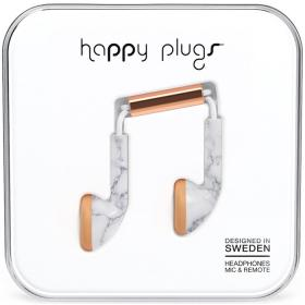 Happy Plugs Happy Plugs in-ear kuulokkeet - White Marble Rose