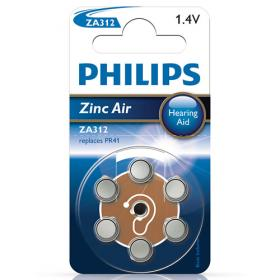Philips Philips Zinc Air ZA312 Hearing Aid akku