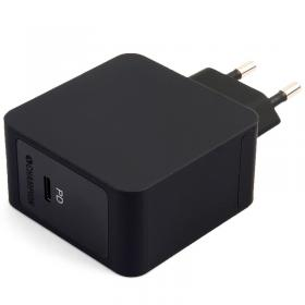 Celly Champion USB-C PD, 18W seinälaturi - Musta